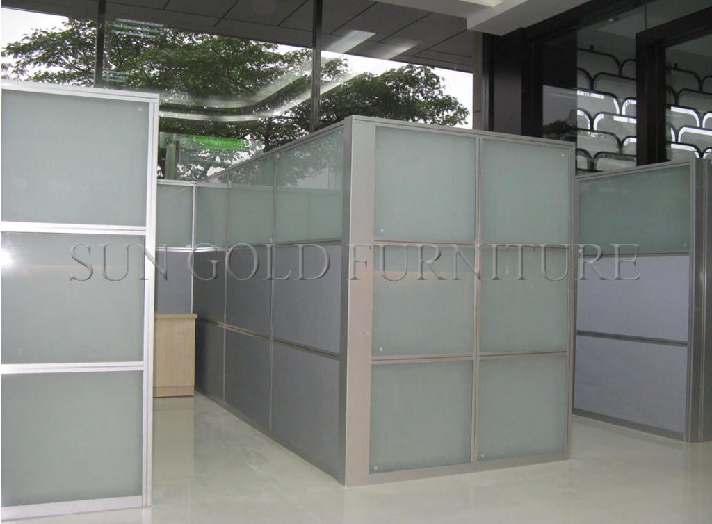 China Popular Cheap Office Used Low Half Glass Wall