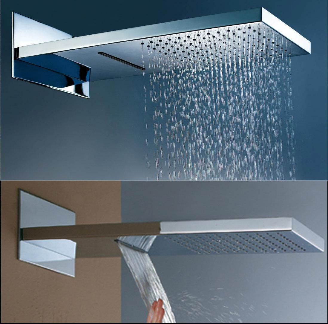 Hot Item 2 Function Waterfall And Rainfall Brass Shower Head