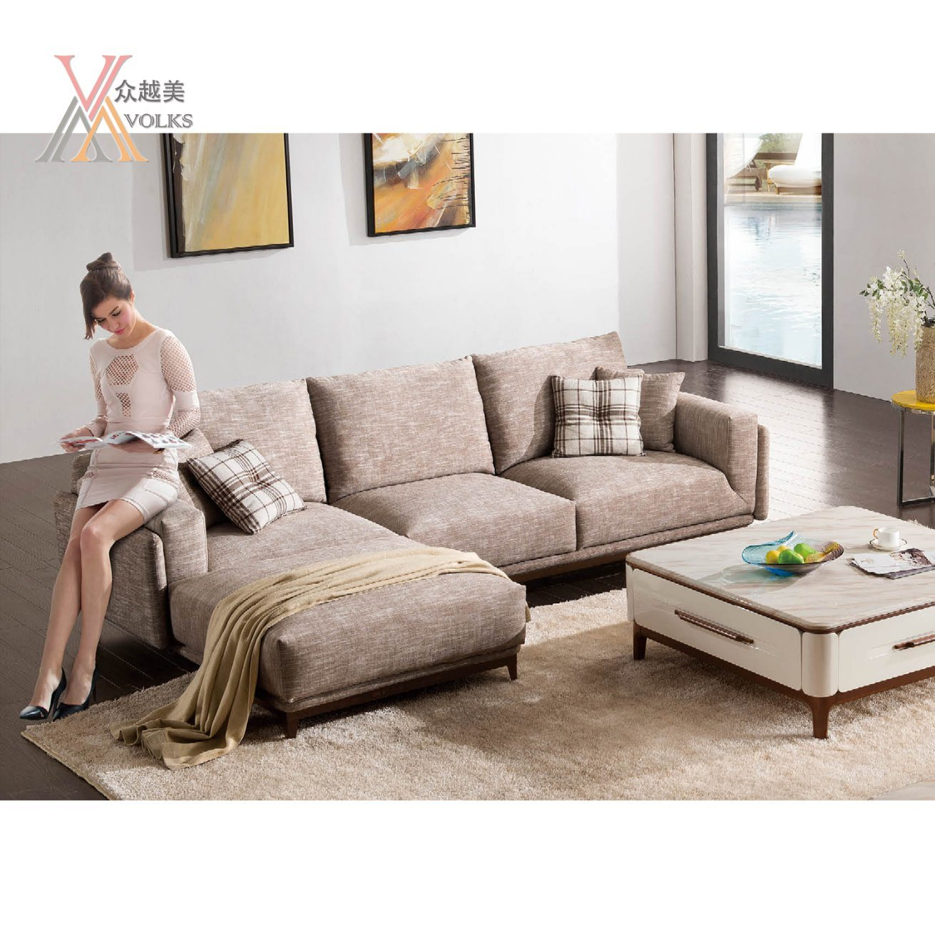 china sofa fabric back to checked comfortable set with