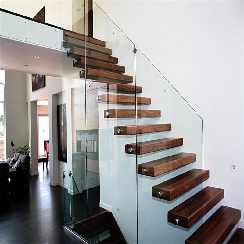 China Diy Prefabricated Floating Staircase With Safety Glass   Diy Glass Stair Railing   Staircase Makeover   Modern Stair Parts   Floating Stairs   Loft Railing   Wood
