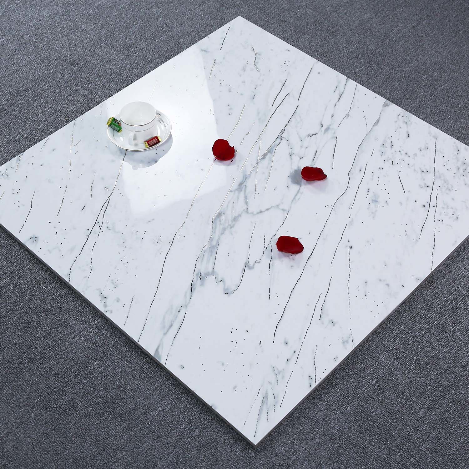 hot item china super white style selections porcelain floor tile 600x600