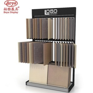 hot item showroom customized combined tile floor display rack for stone