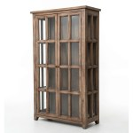 China Kvj Ca10 Storage Rustic Reclaimed Wood Bookcase Cabinet With Glass Door China Cabinet Antique Cabinet