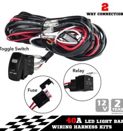 china new one to two universal led light bar wiring harness rocker switch kits 12v 40a relay working lamp group with quick fitment china rocker switch  [ 1000 x 1000 Pixel ]