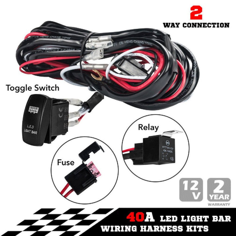 hight resolution of china new one to two universal led light bar wiring harness rocker switch kits 12v 40a relay working lamp group with quick fitment china rocker switch