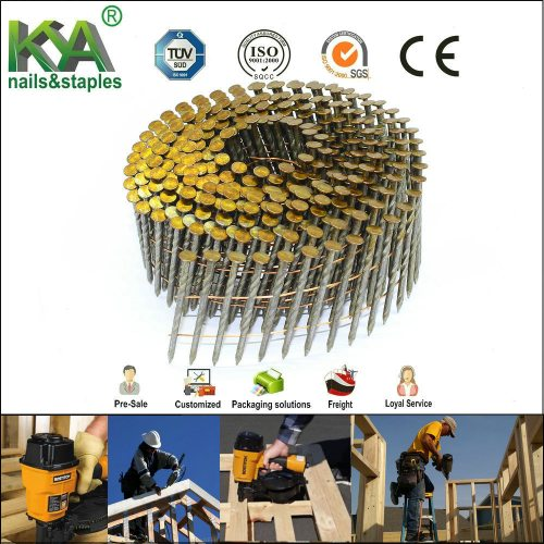 small resolution of screw shank coil nail for construction and packing
