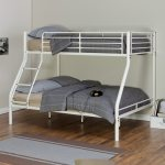 China Twin Over Full Metal Bunk Bed In White Finish Photos Pictures Made In China Com