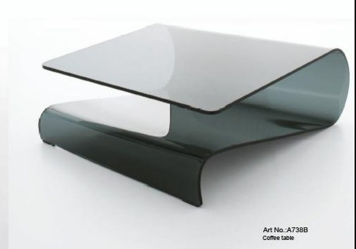 modern black glass coffee table a738b