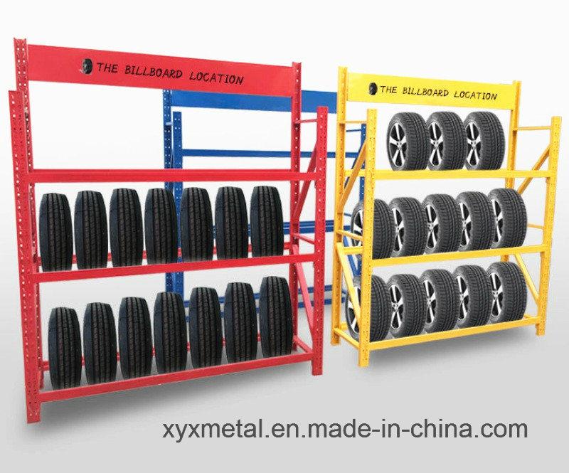 china auto retail shop tire rack shelf