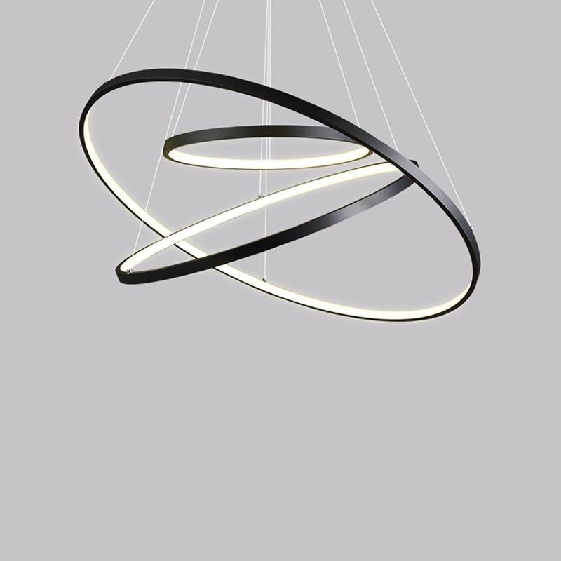 China Wholesale Round Rings Acrylic LED Hanging Pendant