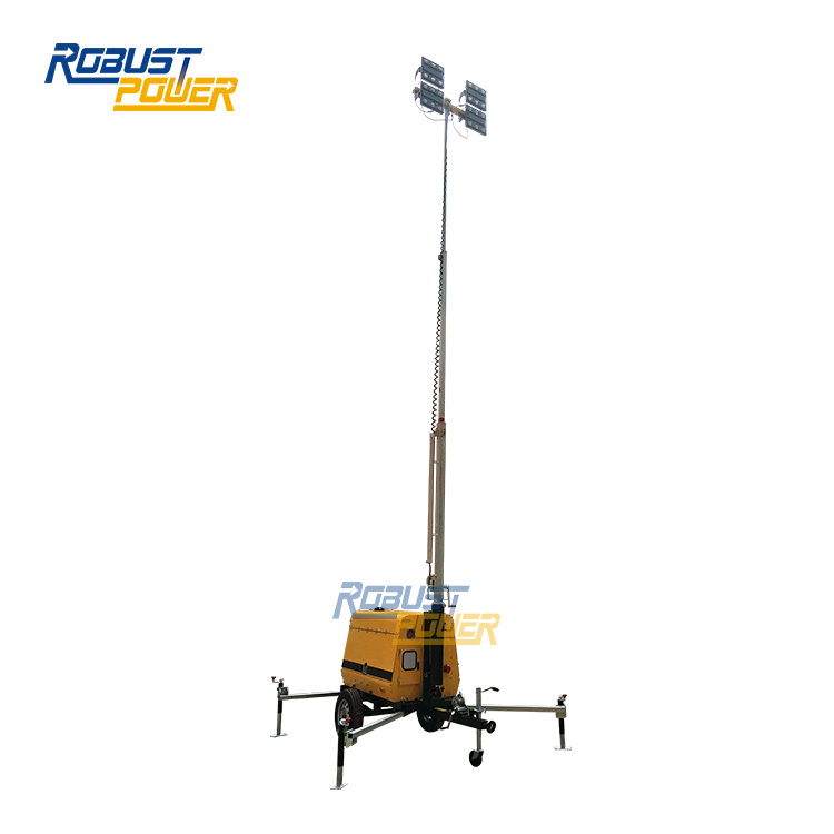 China Portable Lighting Tower LED Hand Winch Manual