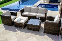 China 2018 Wicker Furniture Rattan Sofa Set Patio