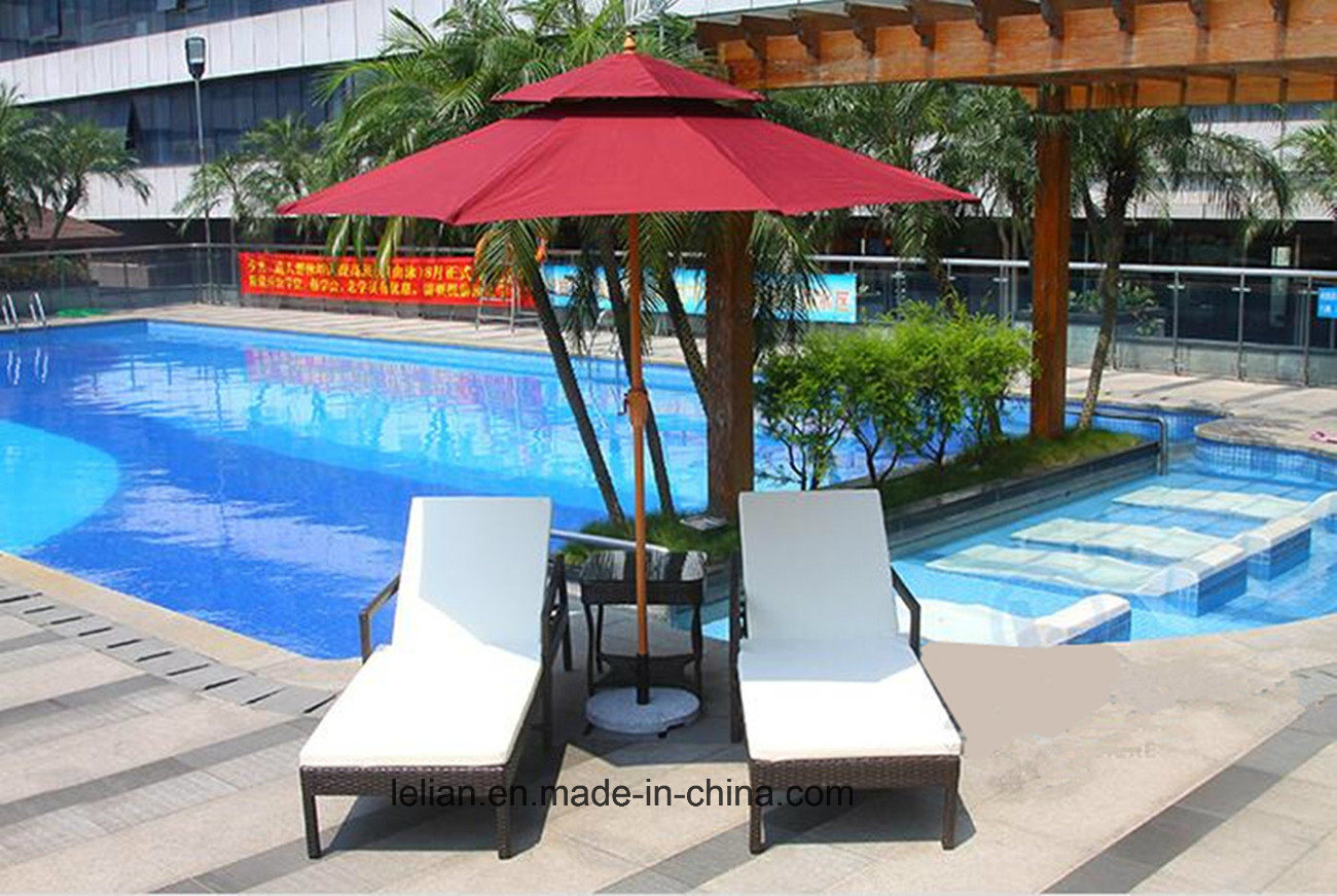 Beach Lounge Chairs Hot Item Outdoor Rattan Furniture Resort Sun Lounge Beach Lounge Chairs Ll Rst007