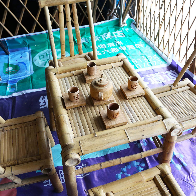 china outdoor garden bamboo patio