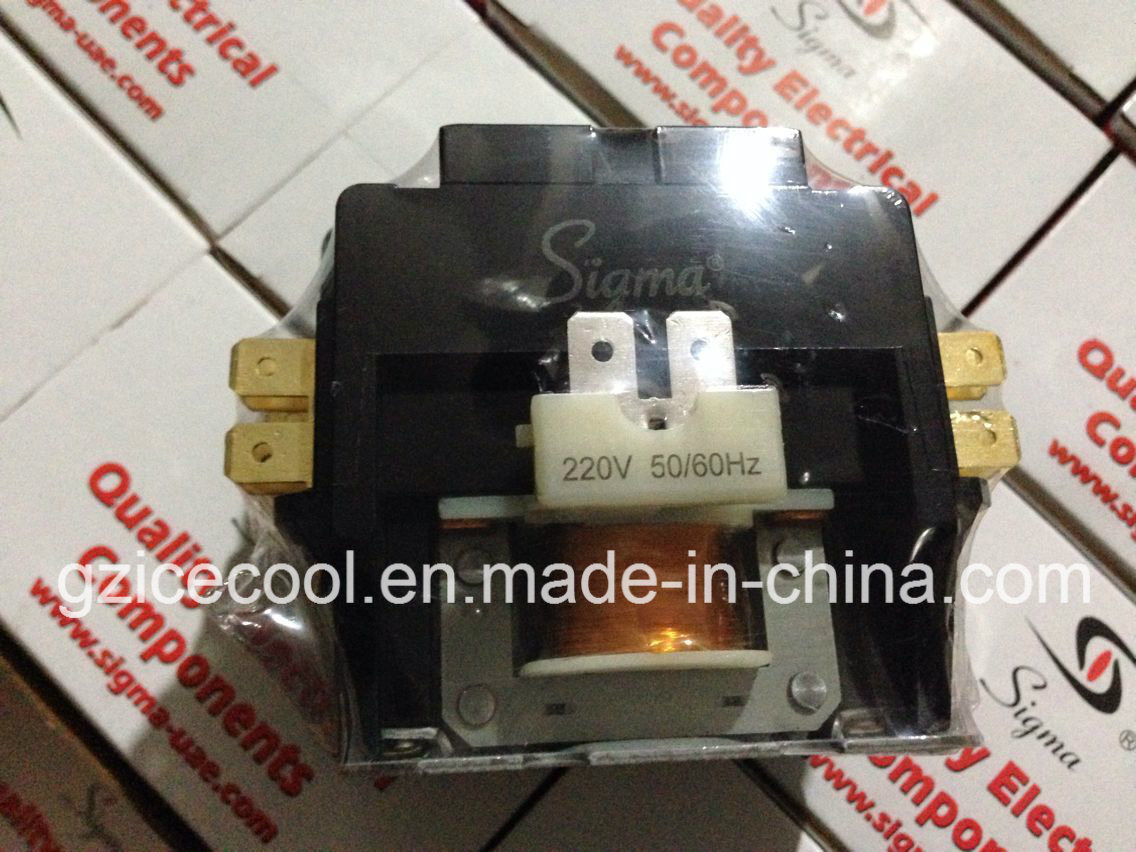 hight resolution of china air conditioner sigma magnetic contactor 220v 2 pole 30a 40a china sigma contactor 2 pole contactor