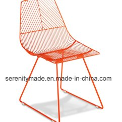 Metal Stacking Chairs Outdoor Baby Bamboo Chair China Wholesale Modern Wire Restaurant