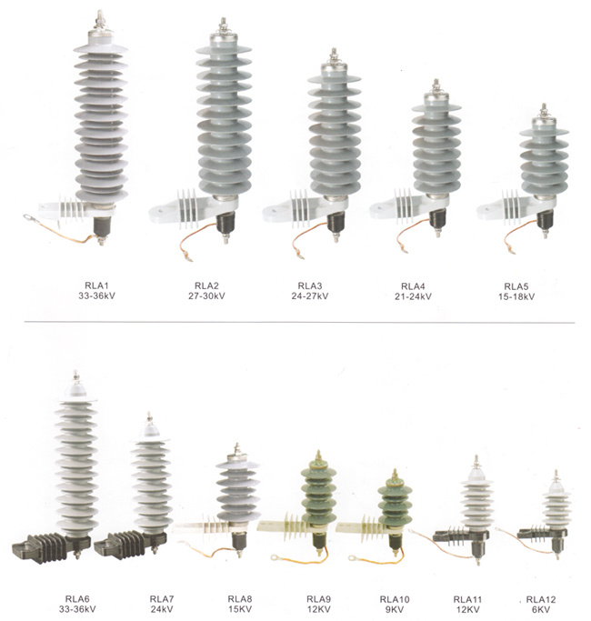 China Polymer Type High Voltage Lightning Arrester Photos