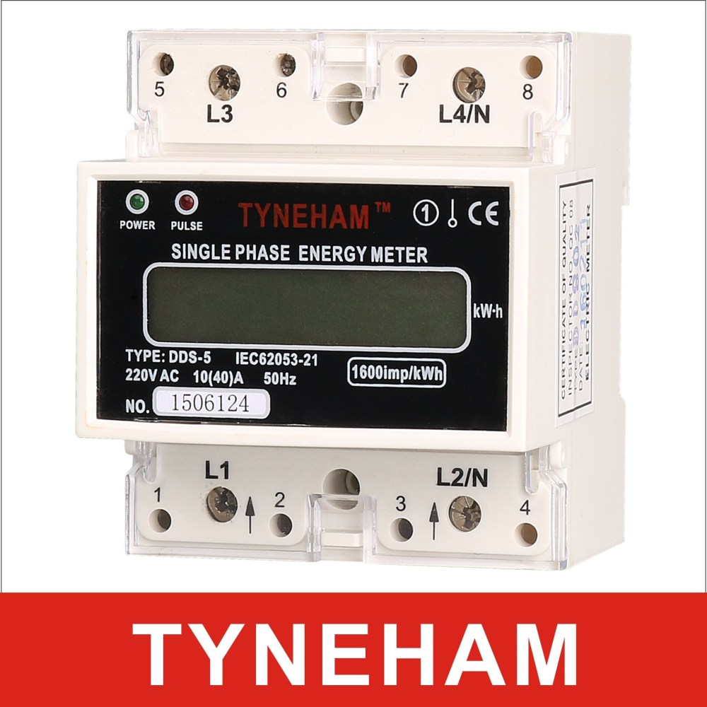 medium resolution of china dds 5l single phase two wire din rial watt hour meter counter type rial mounted china kwh meter energy meter