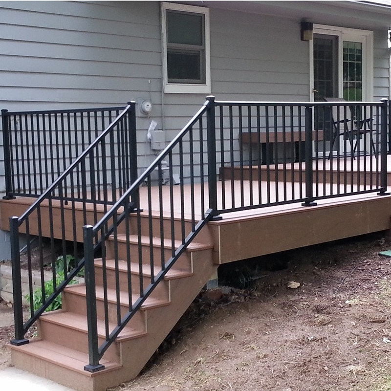 China Factory Manufacture Aluminum Handrail Railing Aluminium   Aluminium Railing For Stairs   Hand   House   Indoor   Staircase   3 Foot