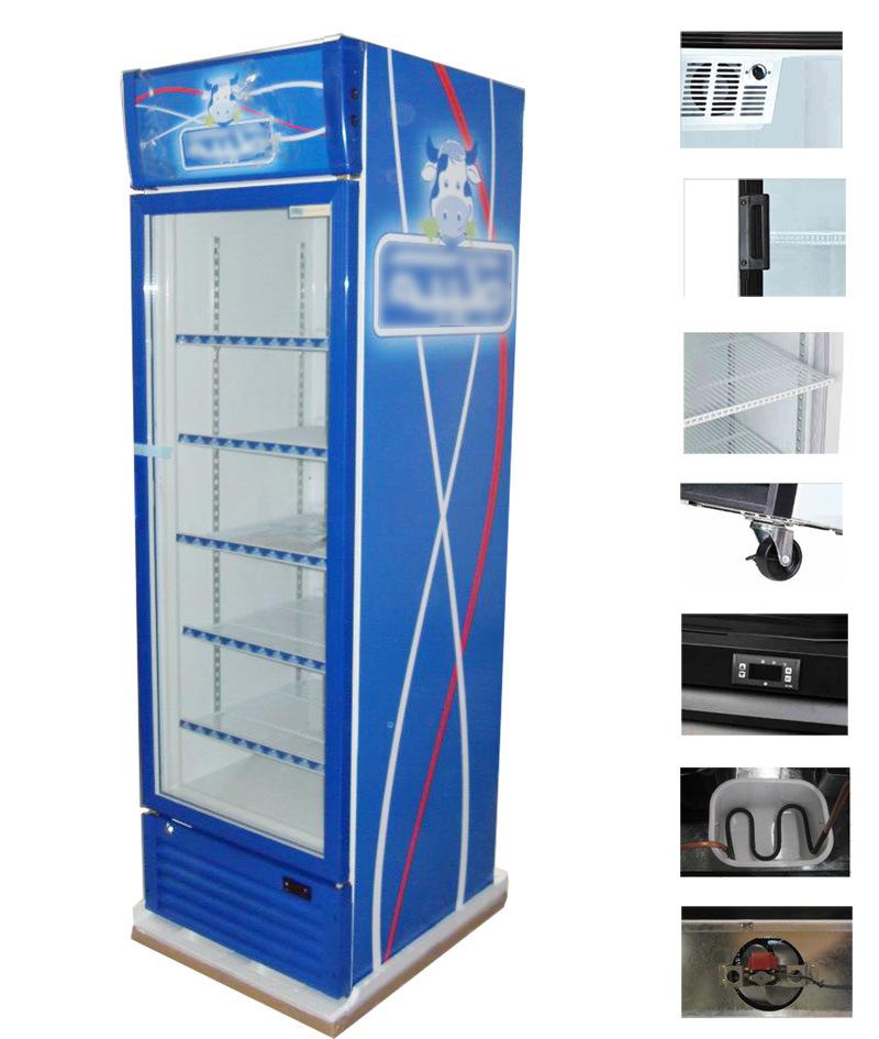 China Glass Door Beverage Cooler