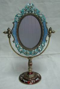 China Pewter Table Top Mirror (P07011A) - China Pewter ...