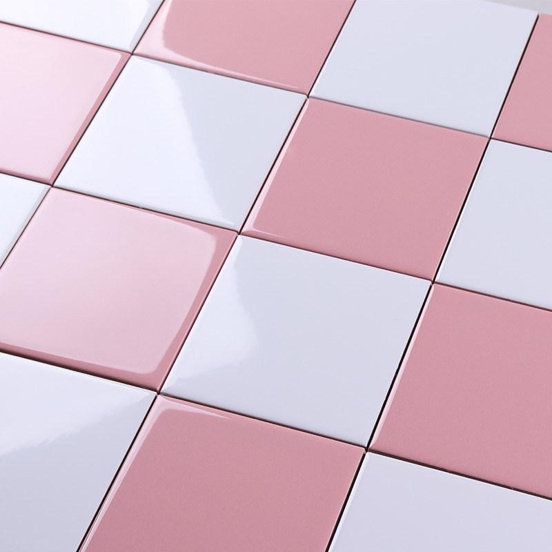 hot item 4x4 inch 10x10cm pink ceramic tile for back splash wall decoration