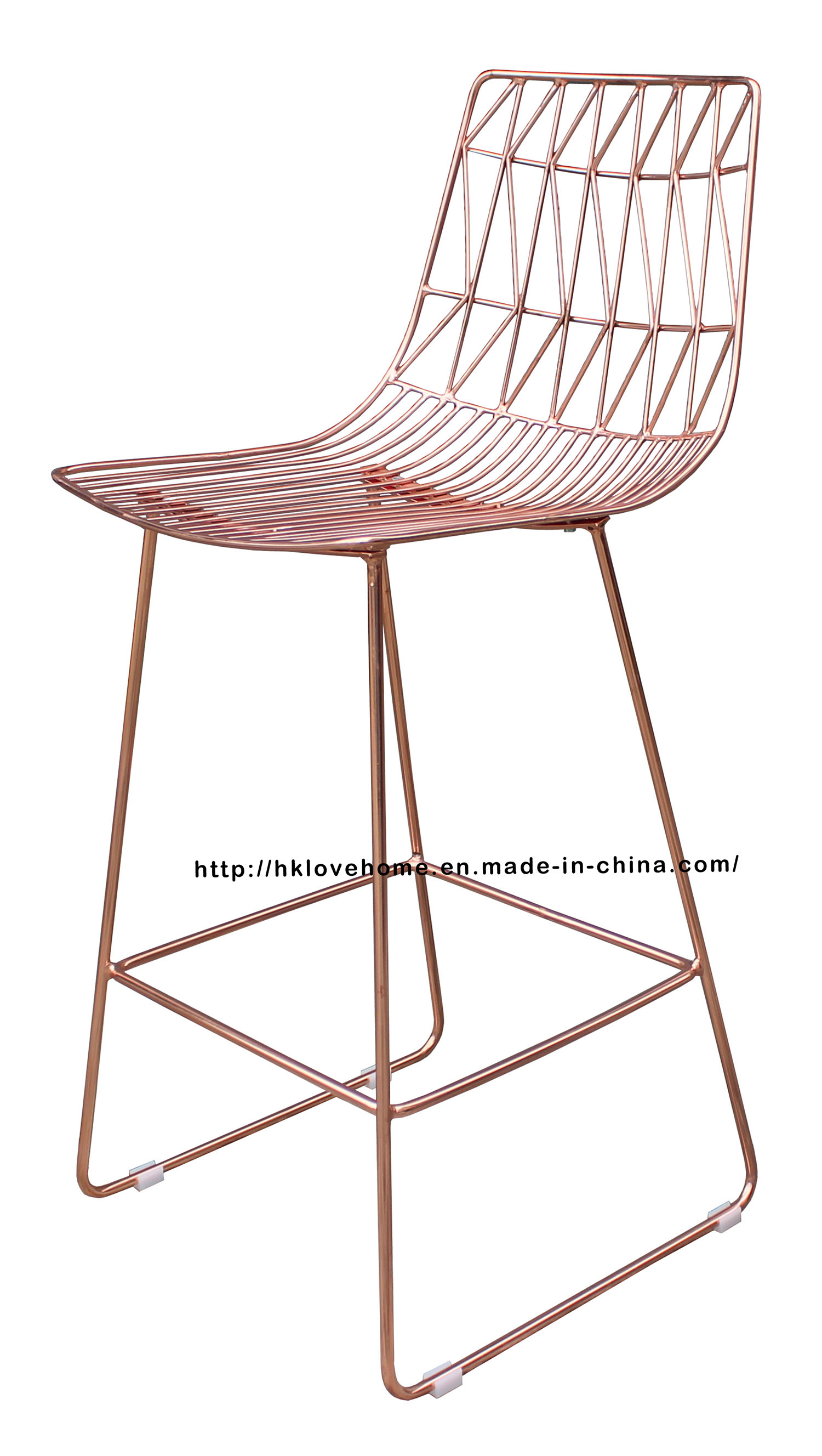 Copper Dining Chairs Hot Item Modern Replica Classic Metal Dining Side Wire Copper Bar Chairs