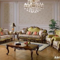 Beige Sofa Set Klaussner Power Reclining China Luxury French Baroque Living Room Royal Palace Hand Carved European Antique Castle Style Exquisite Modern Italy