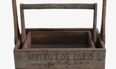 Vintage Wood Planter Wooden Thing