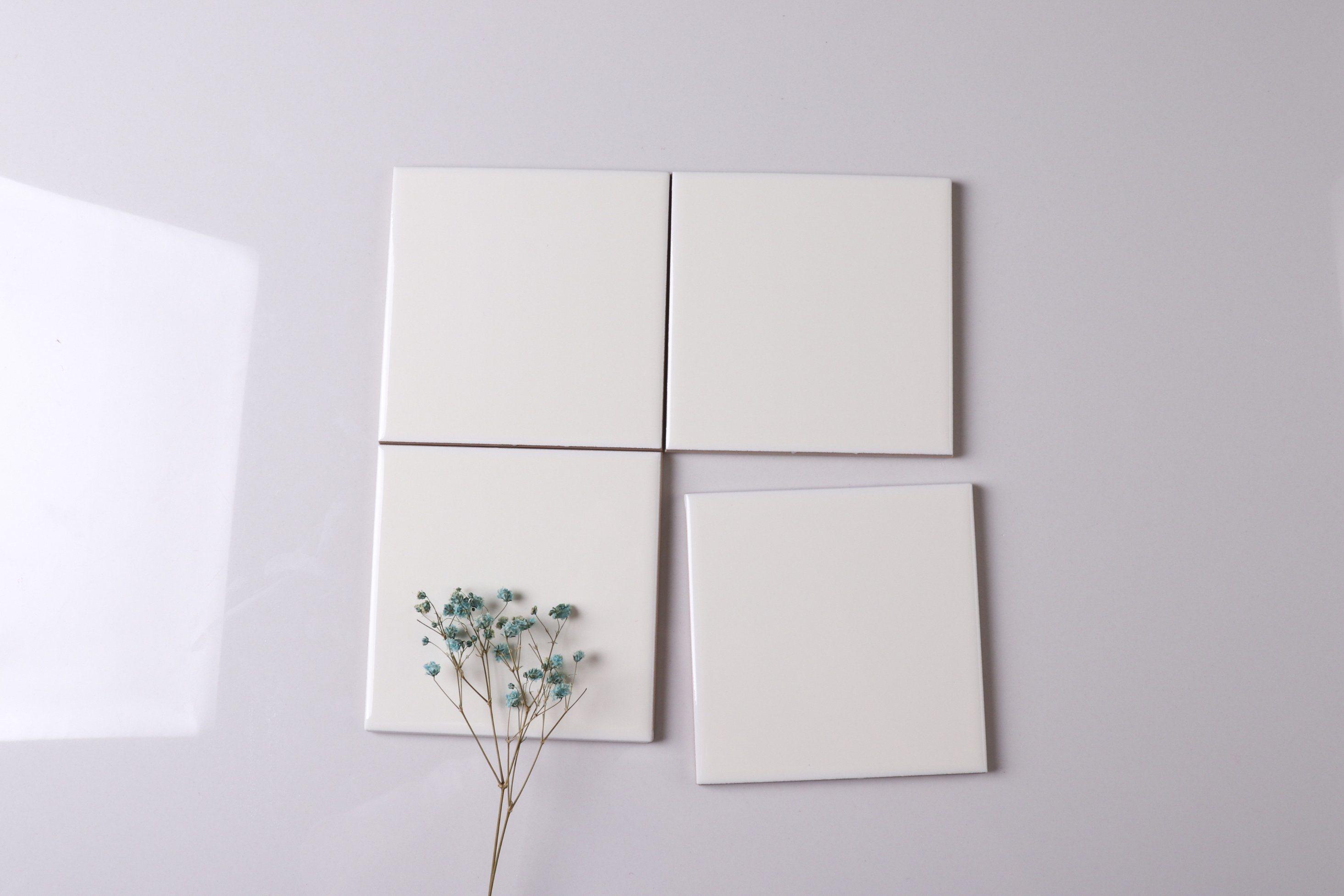 China Newest 10x10 Matt White Ceramic Tile For Bathroom Design Brick Tile Accessories China Grey Ceramic Tile Brick Tile Accessories