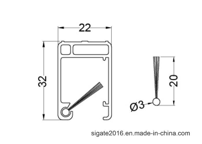 China PVC Guide Rail (With Brush Seal) , Insect Screen/Fly