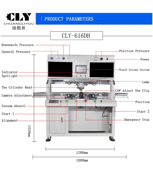 small resolution of china single head hot press lcd led display production heater 616dh china hot press equipment lcd repair machine