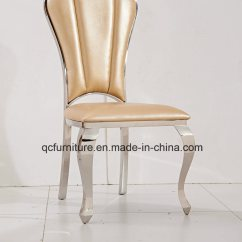 Metal Frame Leather Dining Chair Office Expensive China For Wedding Event Steel