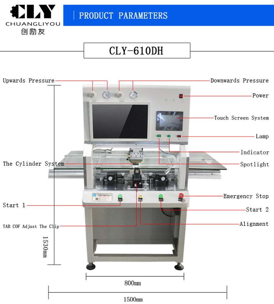 hight resolution of tv laptop lcd bonding repair machine for fpc cof pcb lcd panels