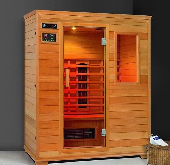 China Dry Infrared Sauna Room (spruce wood) - China Sauna ...