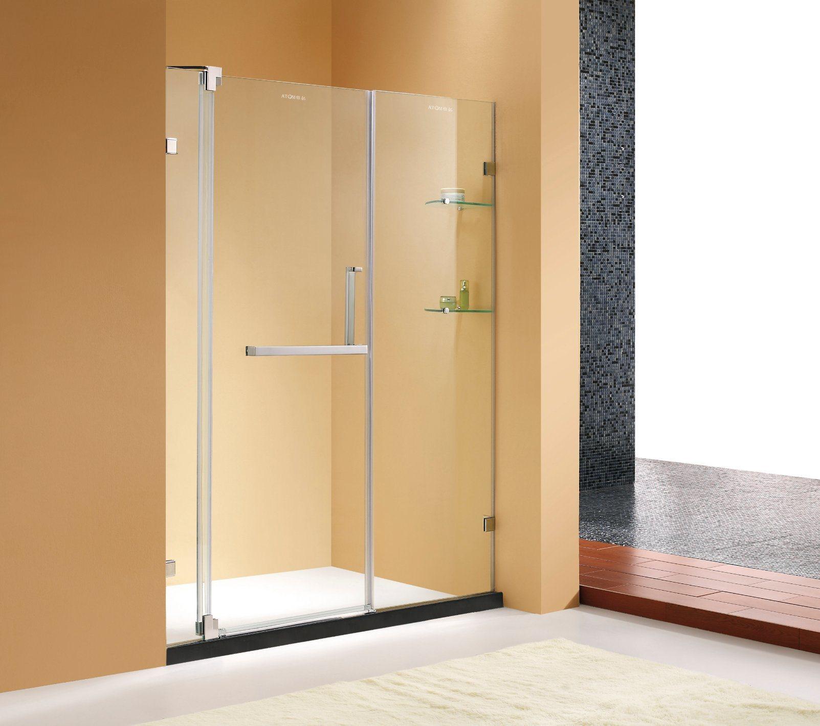 Hot Item Public Loved Frameless Pivot Shower Door Shower Screen With Tempered Glass