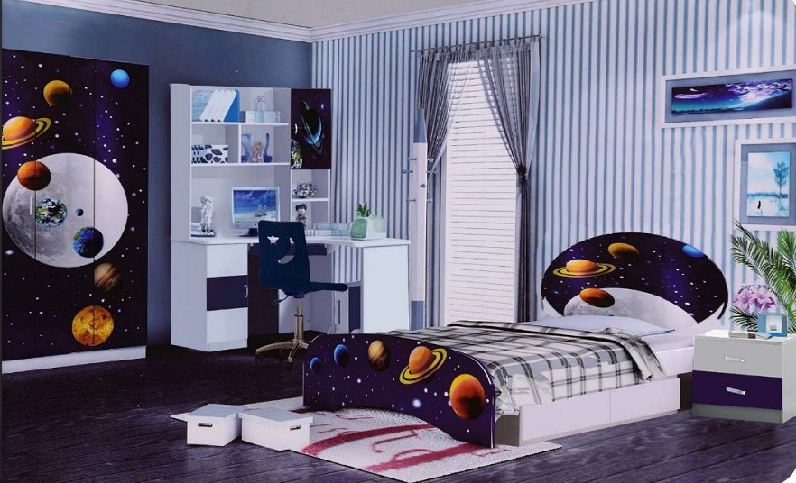 China Children Bed Room Sets Kid Furniture Kid Bed Single Bed Bunk Bed High Quality Glossy Kid Bedroom Furniture New Design 2019 China Children Bedroom Sets Kid Bed