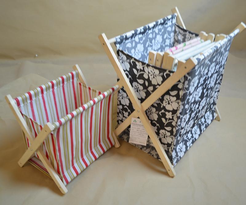 china foldable fabric magazine rack