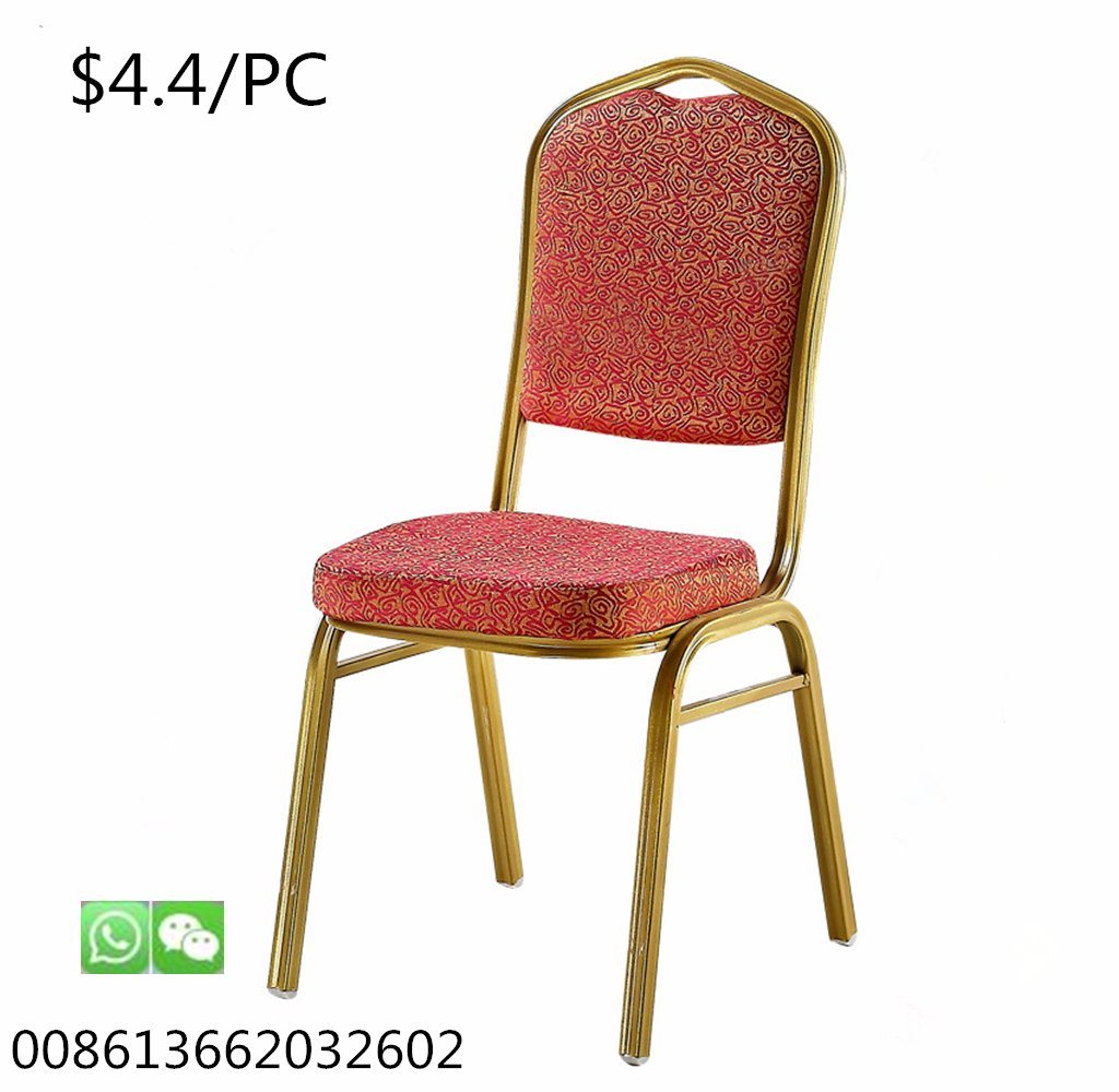 Hot Item Hotel Furniture Wholesale Iron Dining Chairs Wedding Stacking Banquet Chair