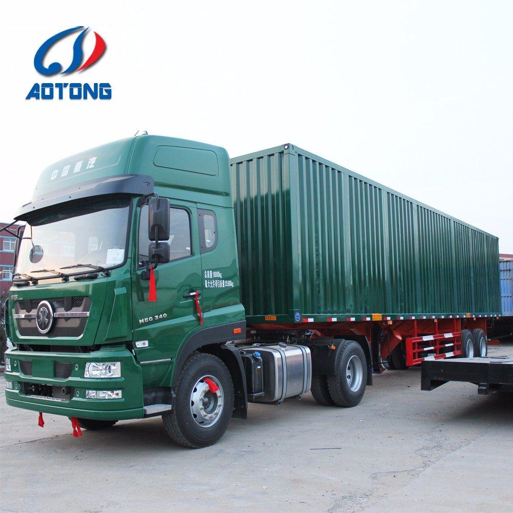 medium resolution of china manufacture 2 axle dry van type box cargo semi trailer china truck trailer semi trailer