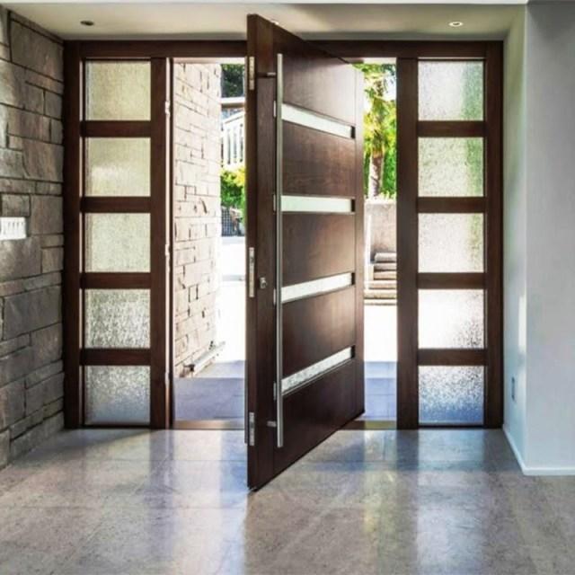 China Us Villa Main Entry Door Modern Design Pivot Wood ...