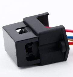 4 way dc32v circuit car trailer auto blade fuse box block holder inline atc ato 2 input 4 ouput wire for bus ship tanker trailer car coat [ 1000 x 1000 Pixel ]