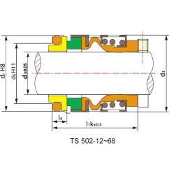 502 rubber bellow seal for industrial pump [ 1000 x 1000 Pixel ]