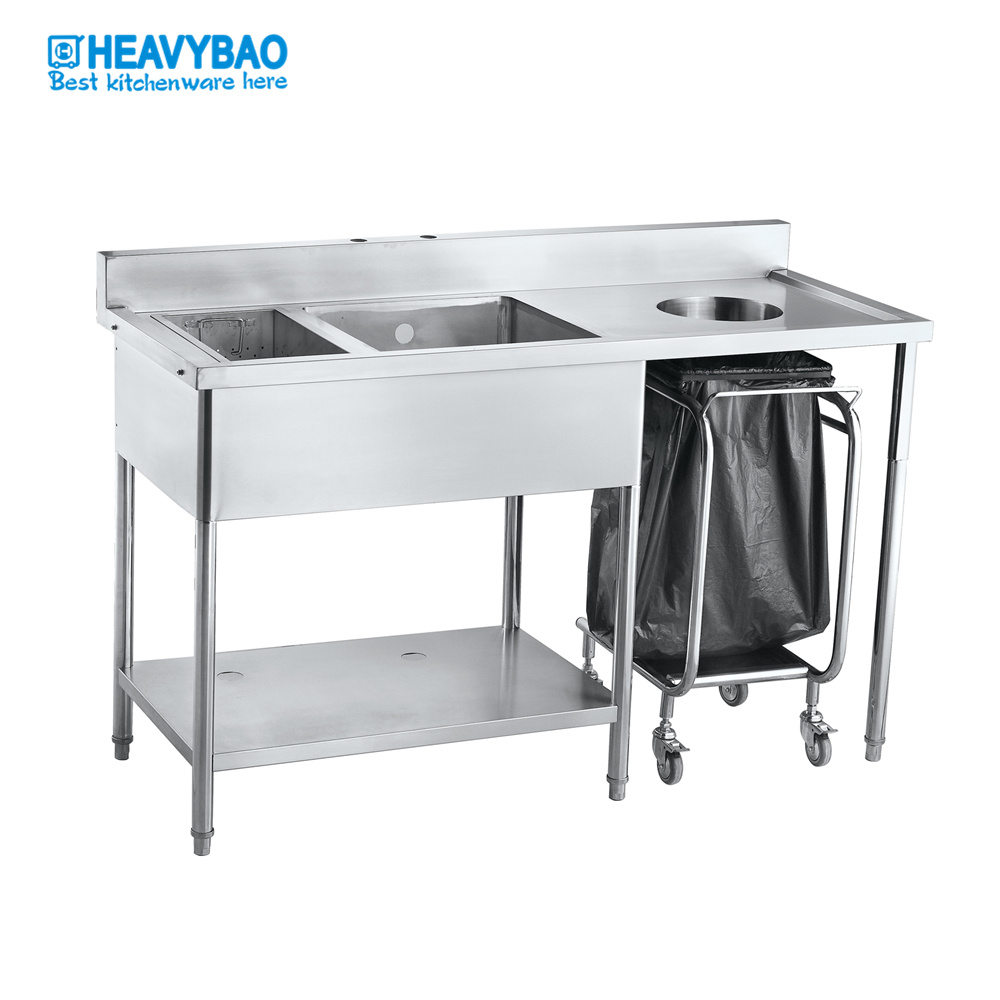 hot item heavybao stainless steel commercial kitchen mop sink