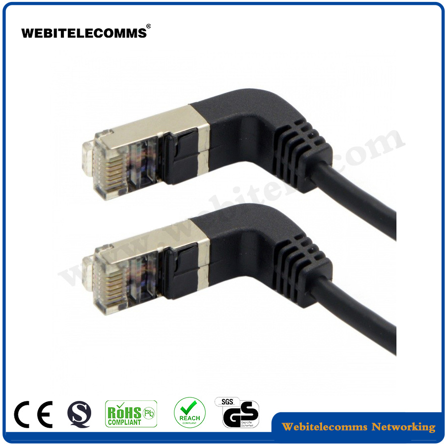 medium resolution of china cat6 ftp network patch cord with 90 degree angled plug china network patch cable cable patch cord