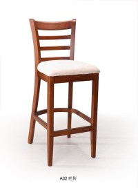 China Wooden Bar Chair (A02) - China Bar Chair, Wood Chair