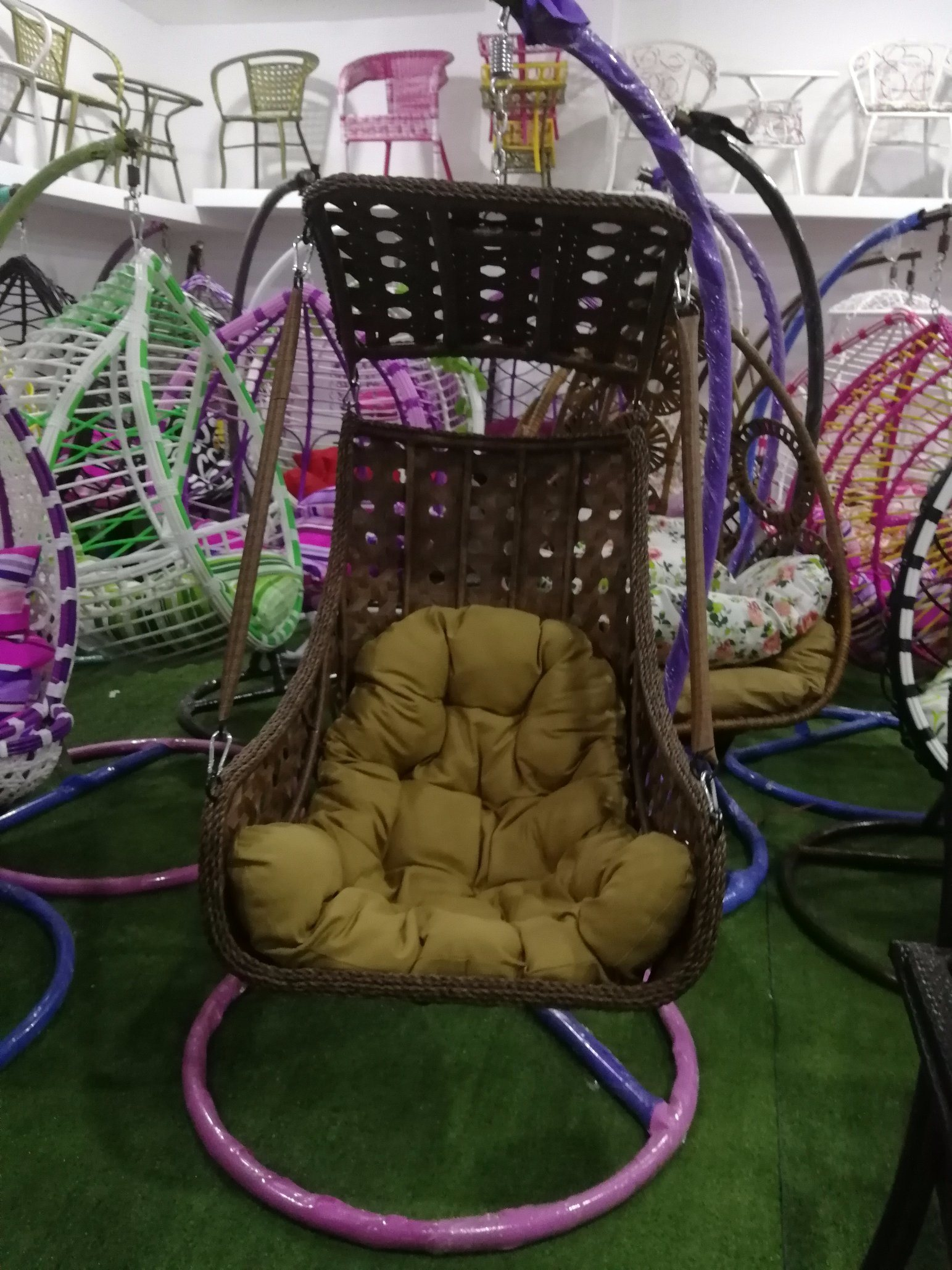 Double Egg Chair China Outdoor Patio Rattan Double Hanging Egg Swing Chair Photos