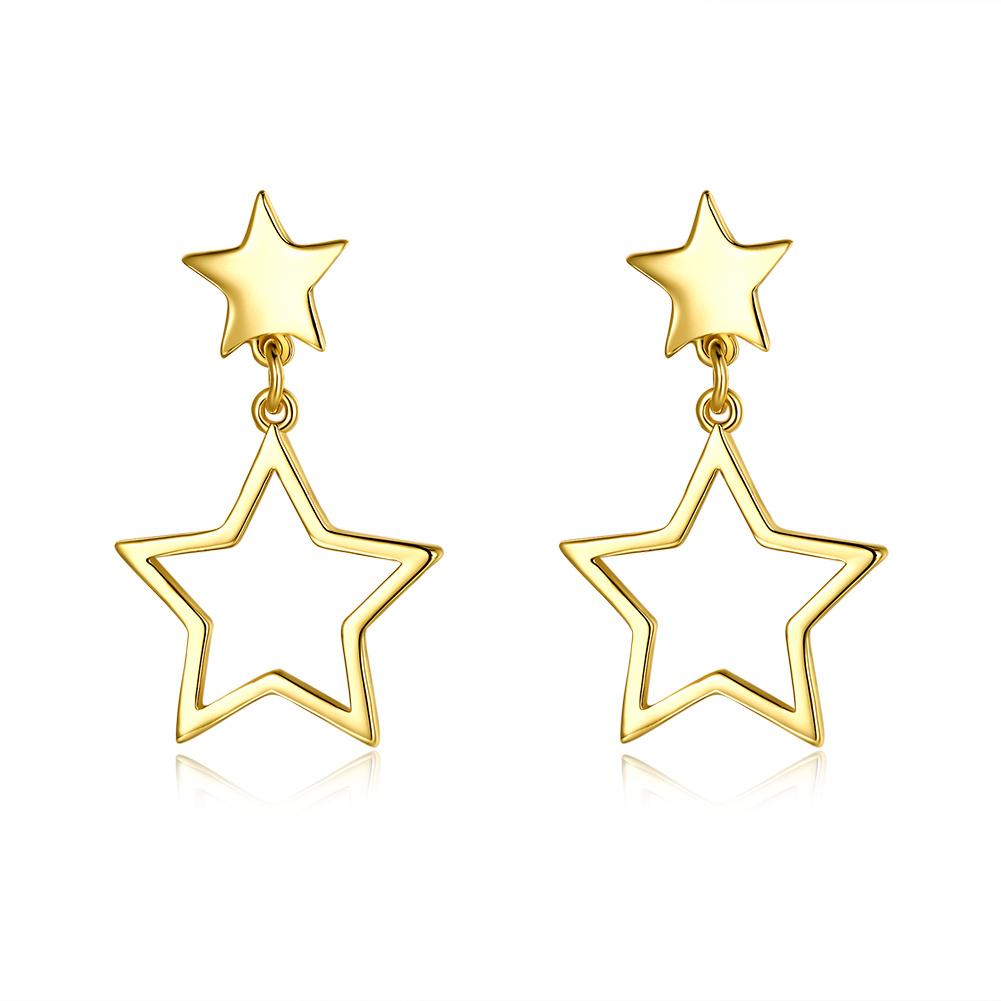 China Star Shape Women Fashion Jewelry Gold Color Earrings Promotion Gift China Women Earings And Women Eardrop Price