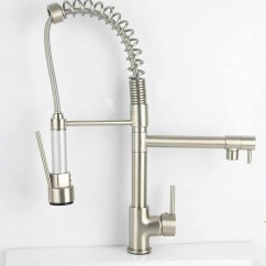 Brushed Nickel Kitchen Faucets Island With Table Attached Pull Out Faucet Brushednickel Biz
