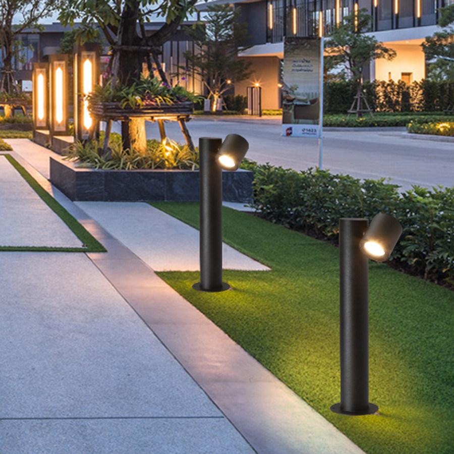 hot item adjustable outdoor garden lawn lamp waterproof landscape pathway lawn spotlight street park villa holiday pillar light
